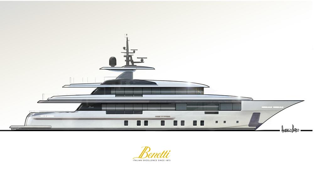 Horacio Bozzo firma il nuovo 160' Custom Benetti