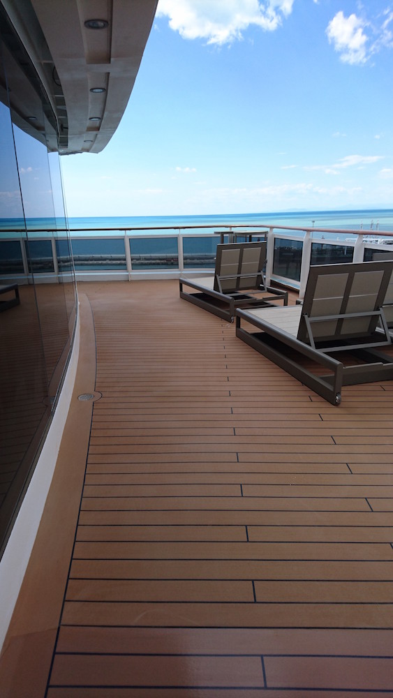 The most luxurious cruise ship in the world sails on resin's terraces and promenades made in Italy produced by Api