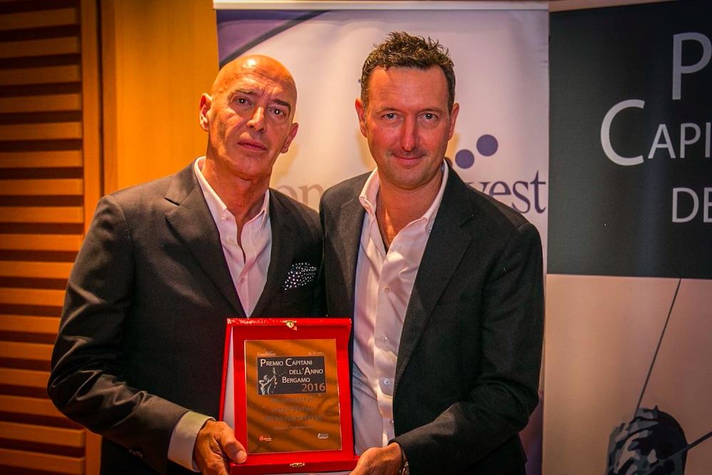 Mauro Micheli e Sergio Beretta di Officina Italiana design, insigniti del premio Capitani dell'Anno