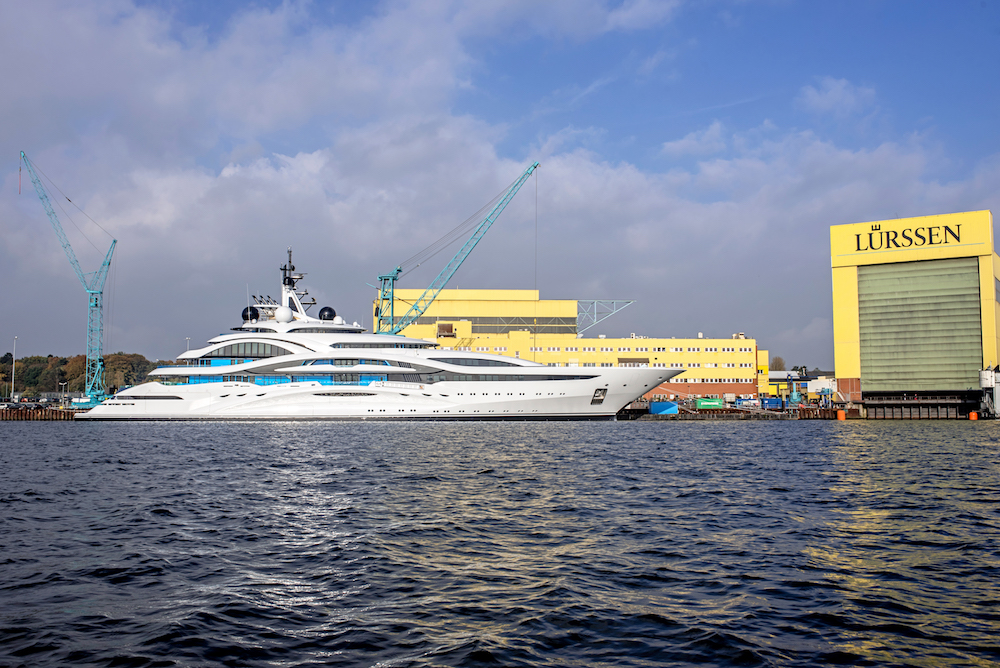 Lurssen launched 123m Project Jupiter