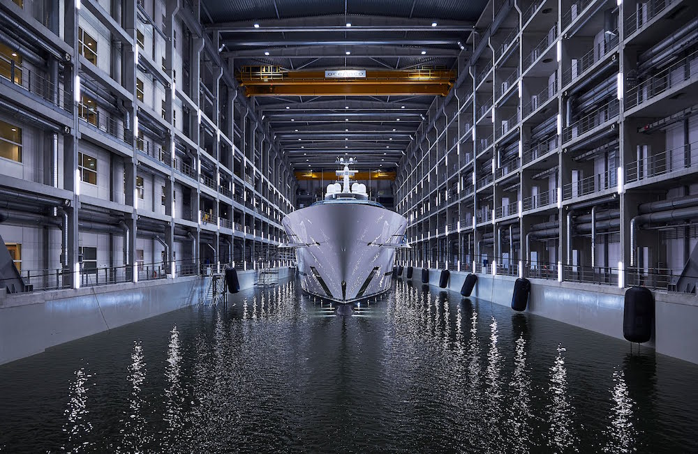 Oceanco launches Jubilee the largest yacht ever built in The Netherlands