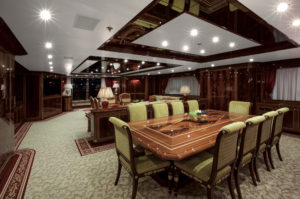 Main Deck dining table