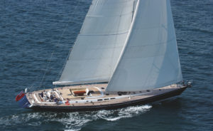 Fly One, Farr Nauta  93', built by Southern Wind Shipyard.  Photographed in Santo Domingo by Rick Tomlinson