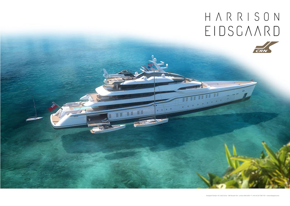 Crn introduces a new 86 metres explorer yacht designed by Harrison Eidsgaard