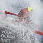 Dongfeng Race Team's first helicopter shoot in South Britany between Glenan Island and Groix Island.