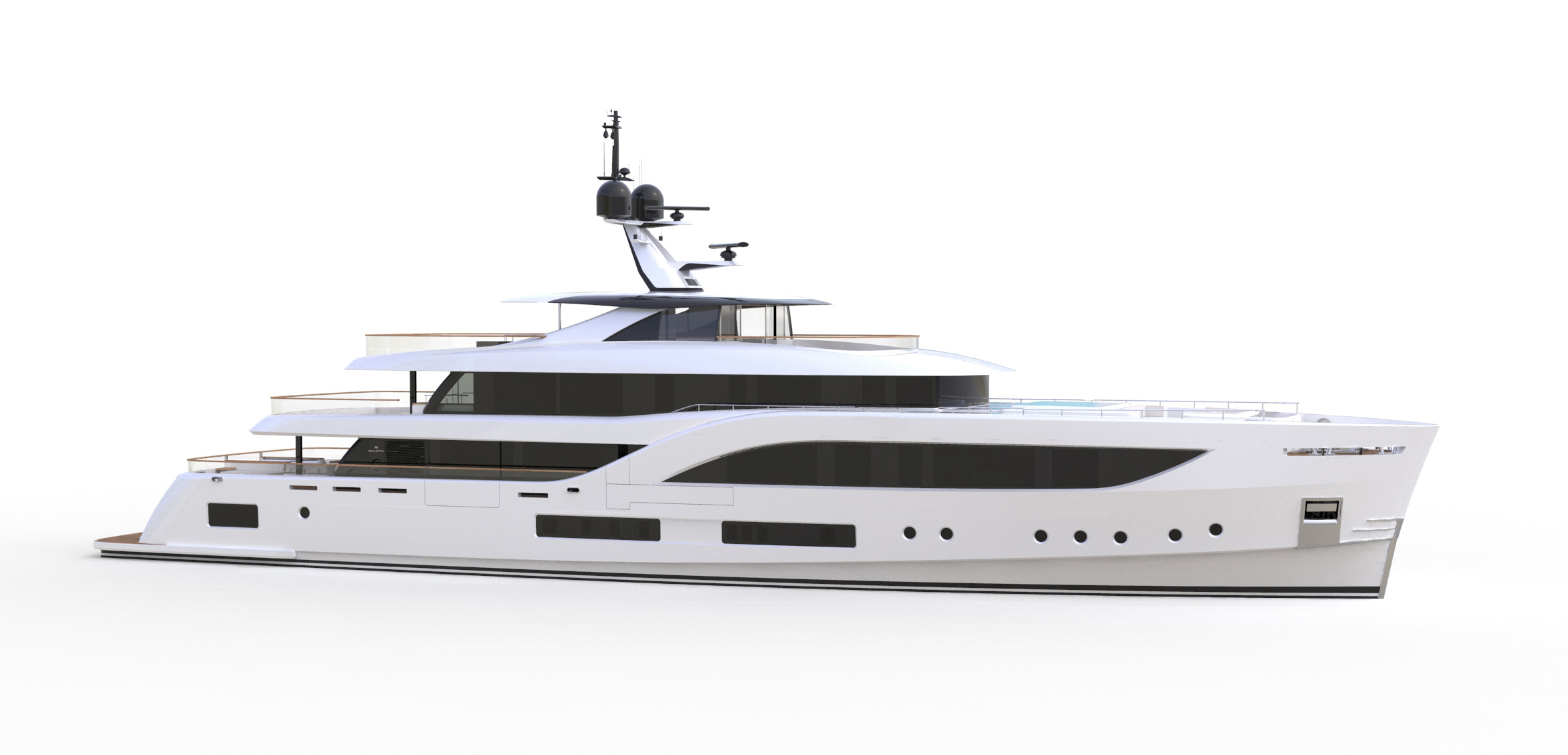 Baglietto reveals first image of the new 54m hull #10231