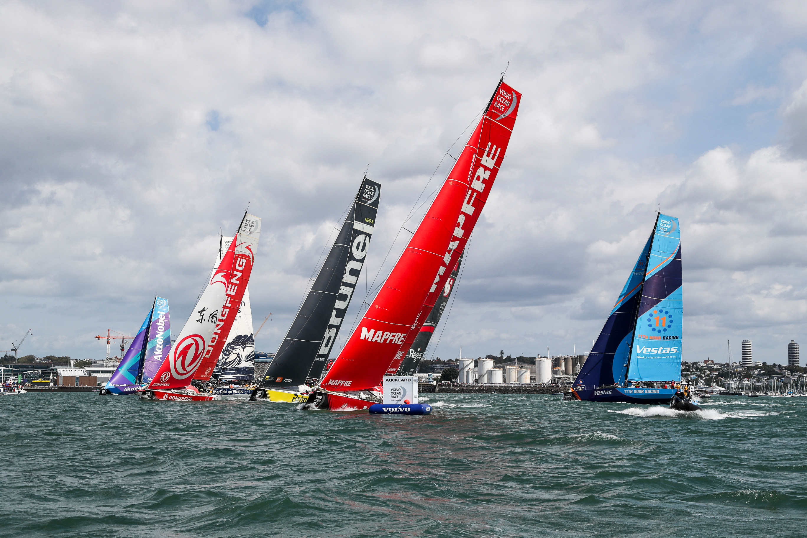 MAPFRE leads the Volvo Ocean Race fleet to start epic Southern Ocean leg