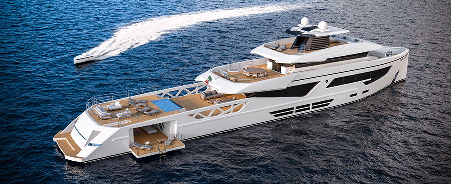 The new Rosetti Superyachts' Supply Vessel