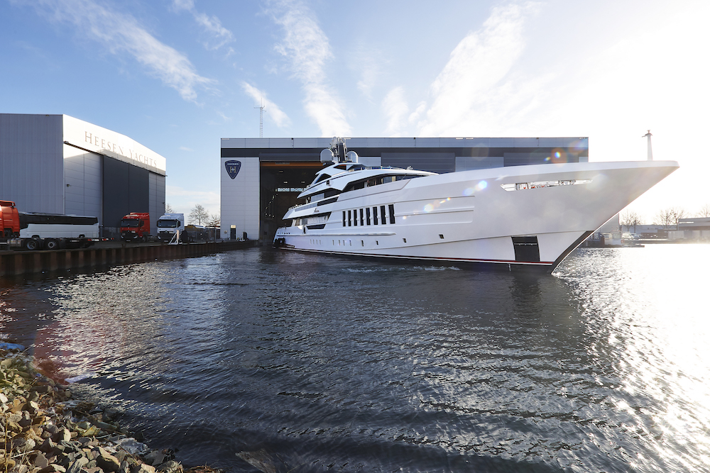 Heesen launches Vida the latest yacht in the 55m Steel class