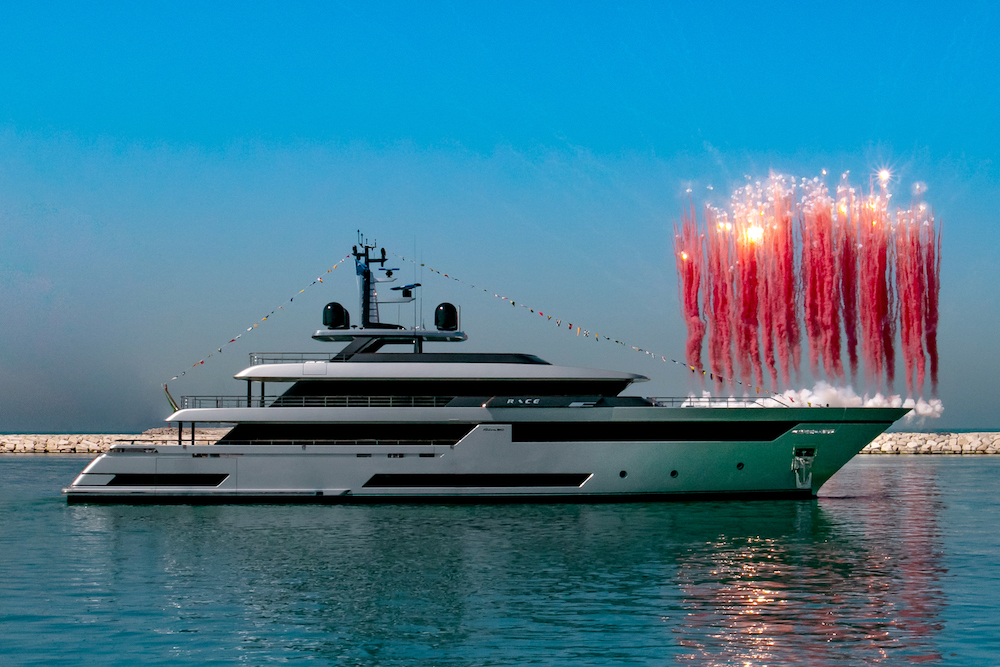 "First Superyacht Riva 50 meters ""Race"" launched"