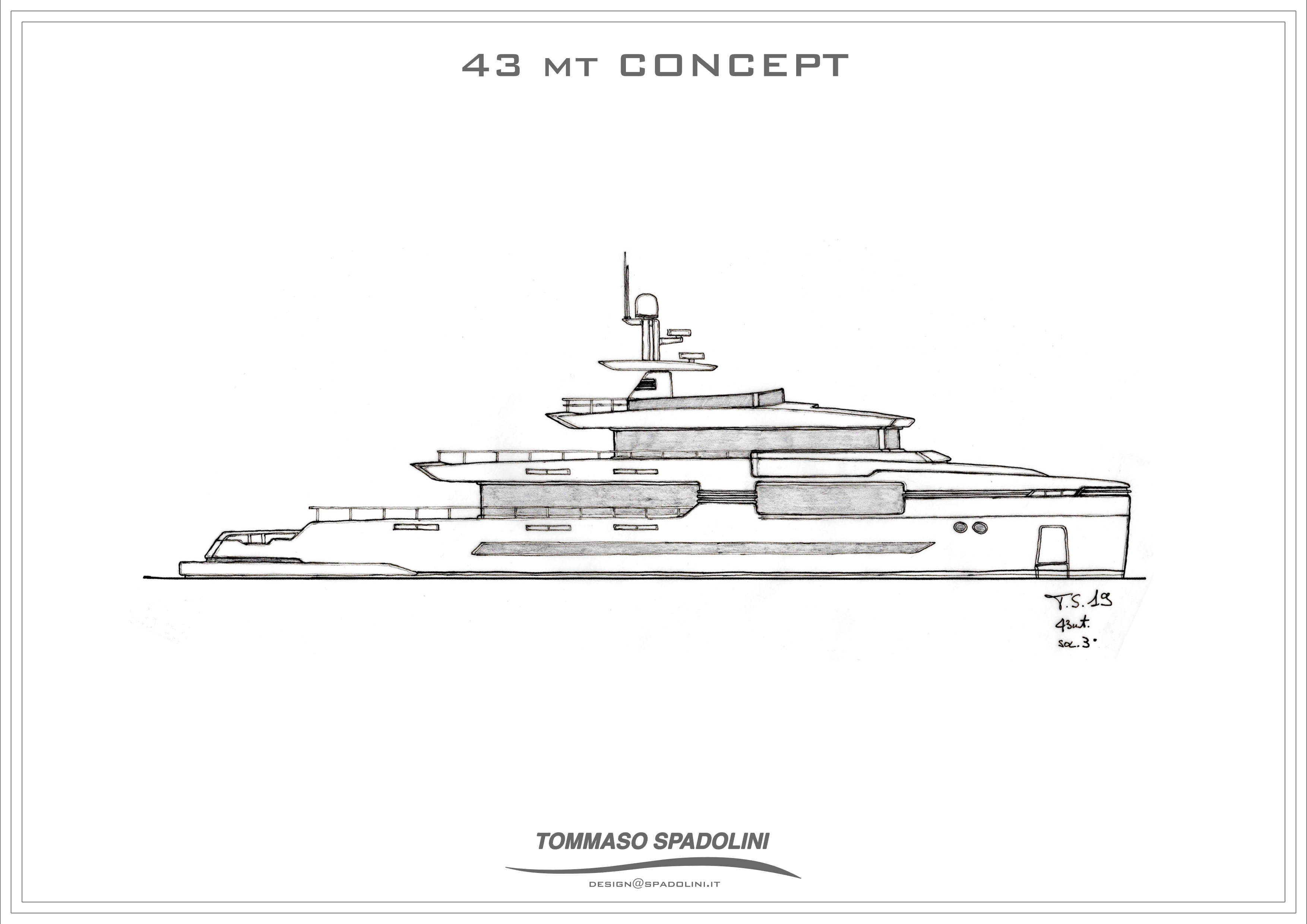 Tommaso Spadolini reveals a new 43-metre  design project