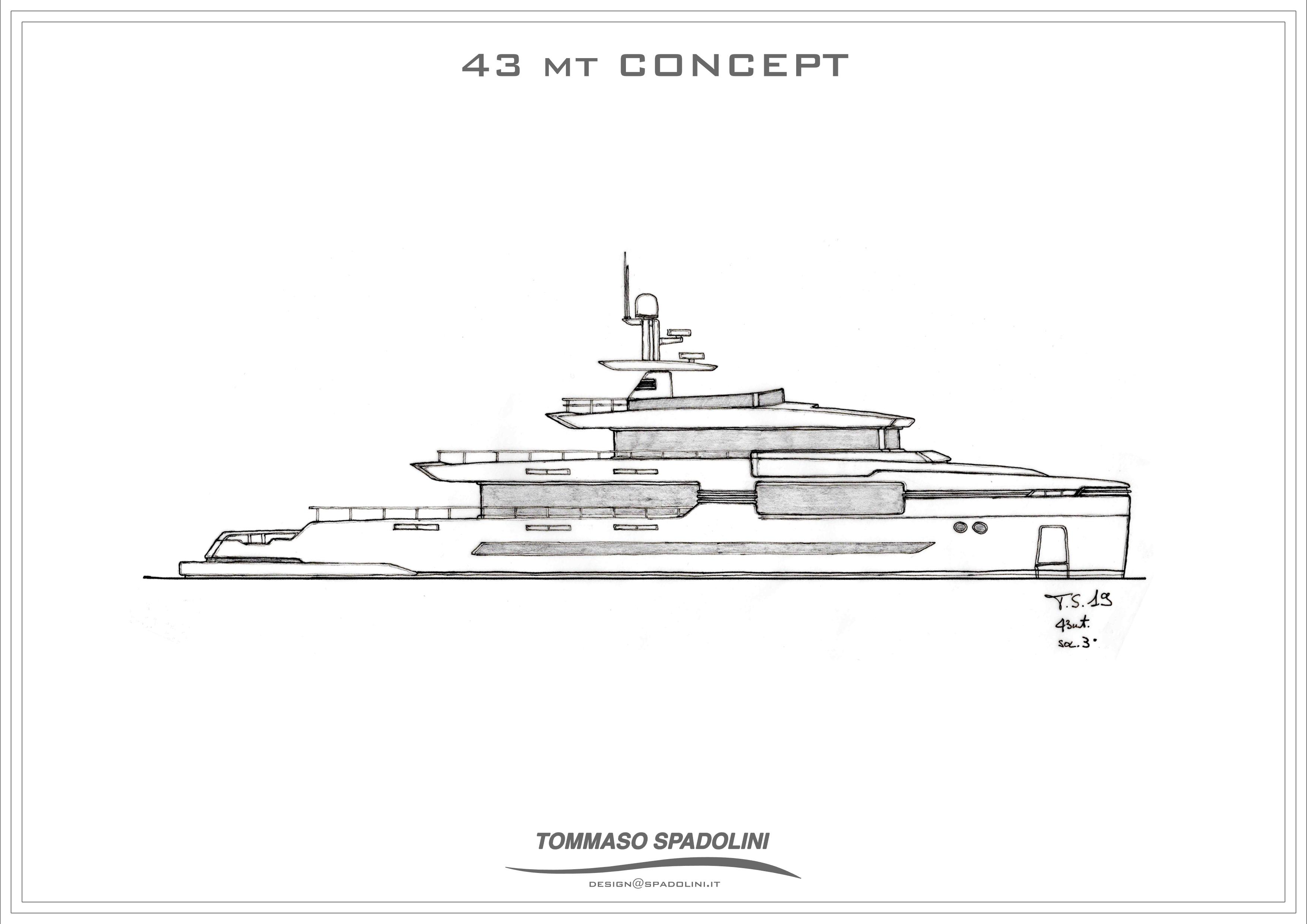 Tommaso Spadolini svela il progetto  di un nuovo 43 metri