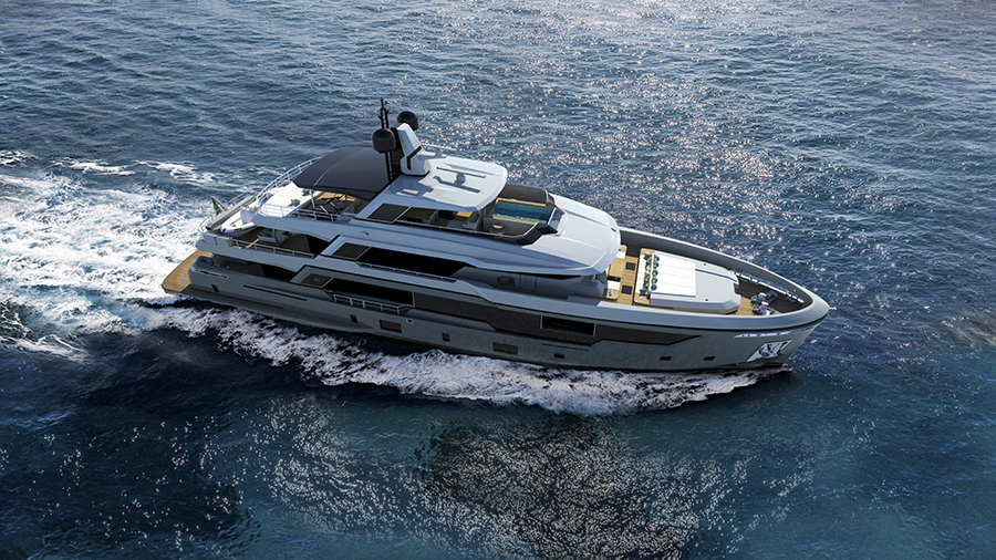 Rosetti Superyachts ha presentato il work in progress del suo Explorer