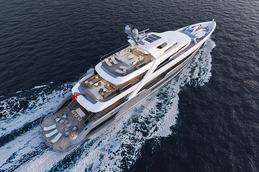Alia Yachts unveils her new project 55m at the 2019 Monaco Yacht Show