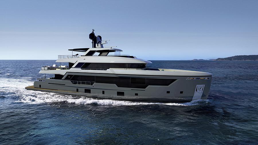 Rosetti Superyachts 38m Explorer work in progress
