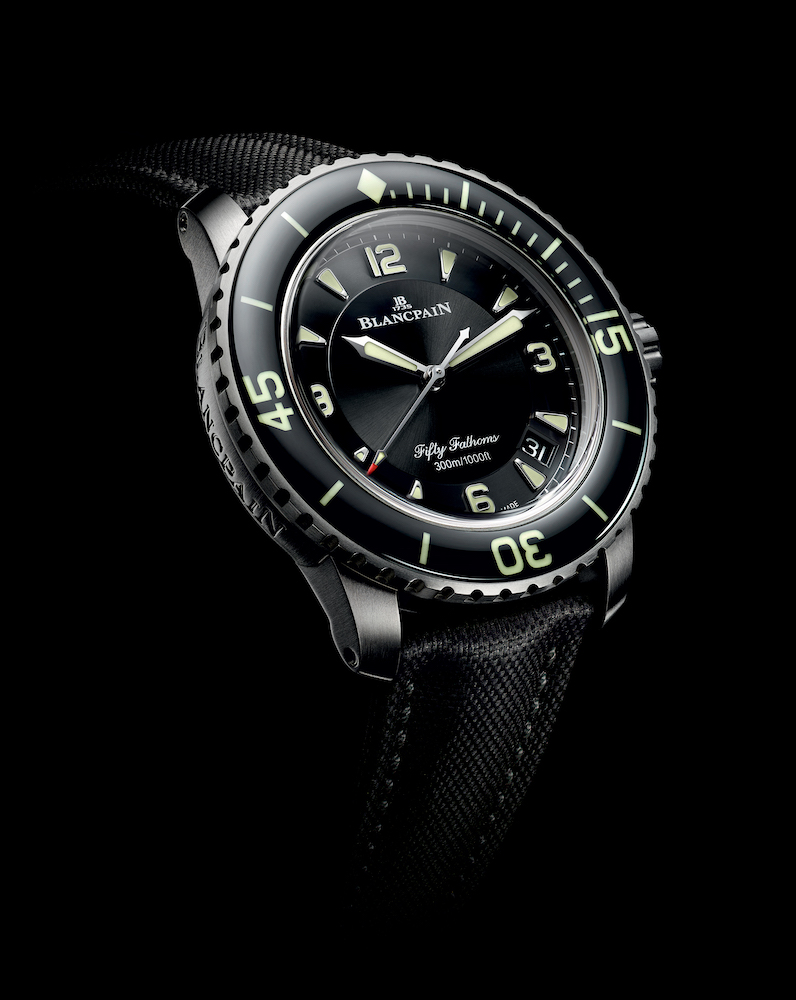 New titanium version for the Blancpain's Fifty Fathoms