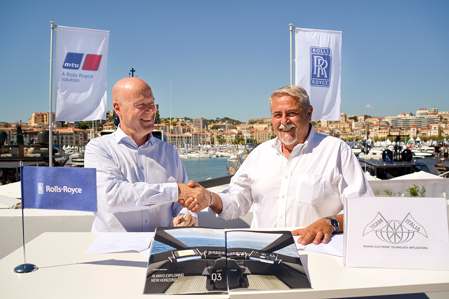 Team Italia and Rolls Royce join forces