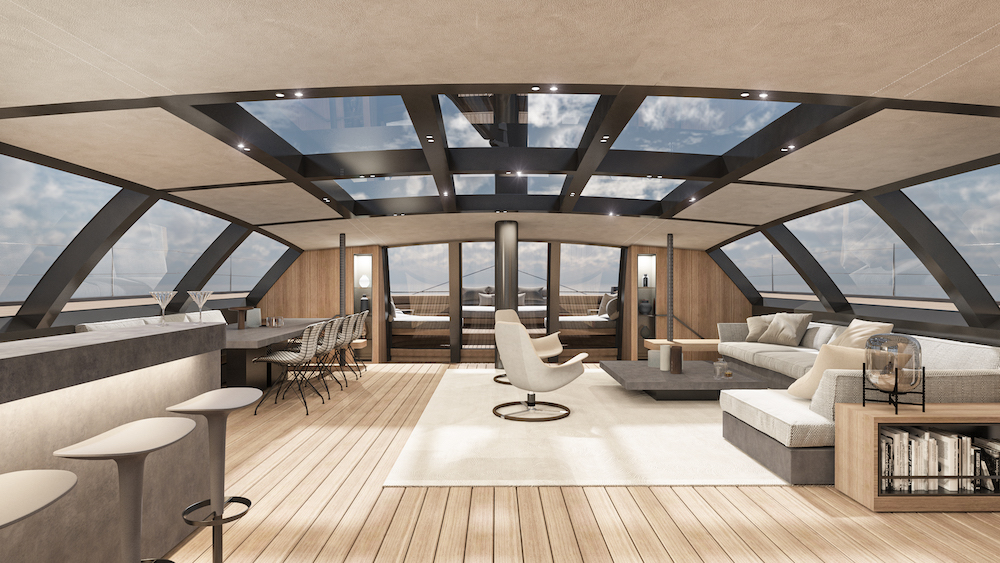 M2atelier penned the BlackCat 30 metre interior design