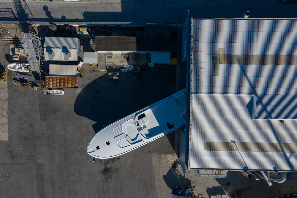 ISA Super Sportivo 100ft GTO ready for outfitting