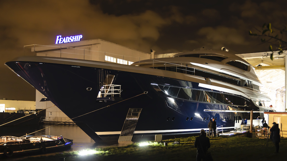 Feadship Project 705 comes into the light