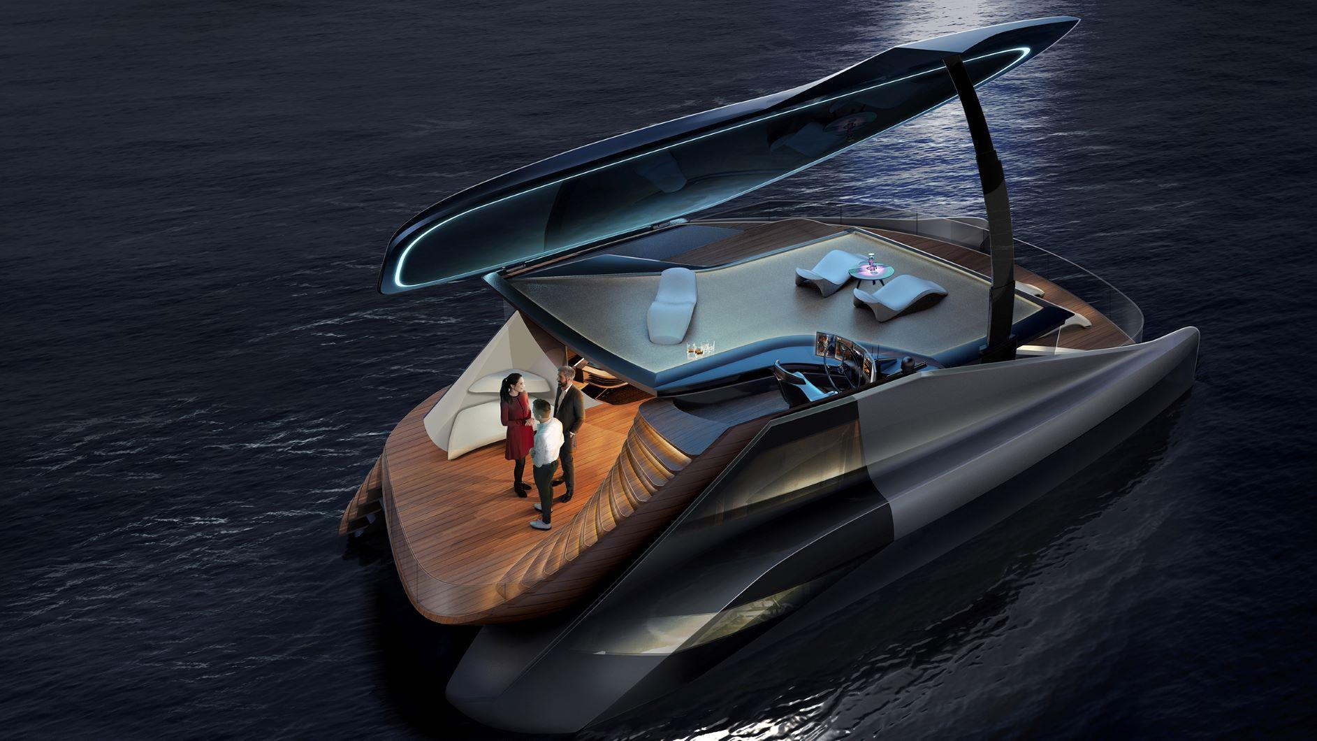 Icona debutta nello yacht design con il concept per un catamarano elettrico