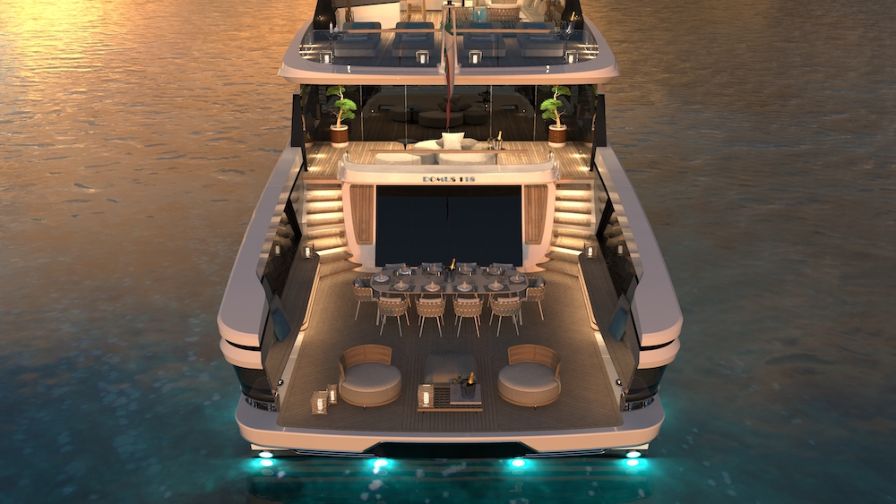 Tecnomar presents Domus, the new project for a 36 meter motoryacht charter