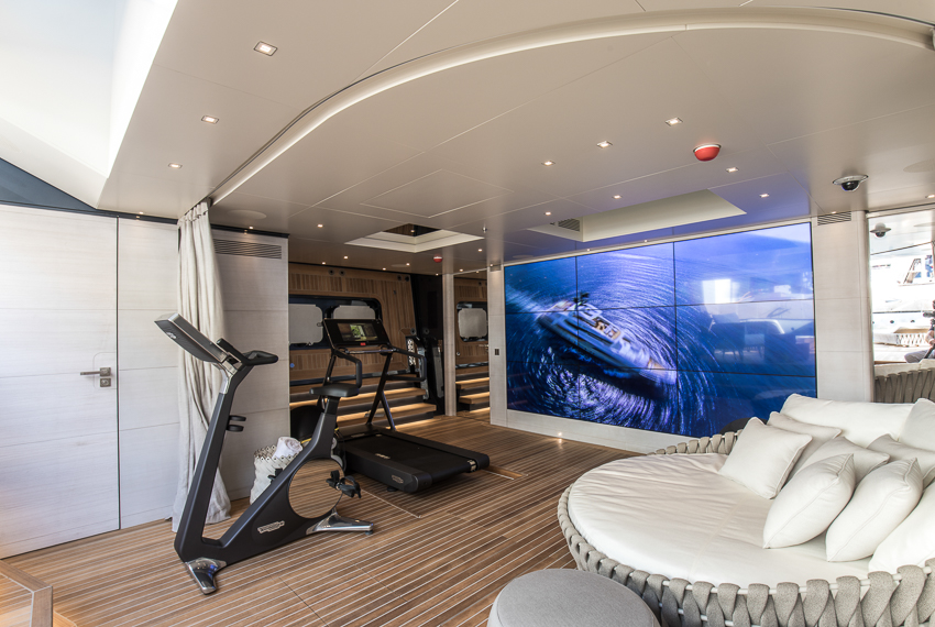 Videoworks talks about the most advanced systems  aboard Severin*s the 55m built by Baglietto